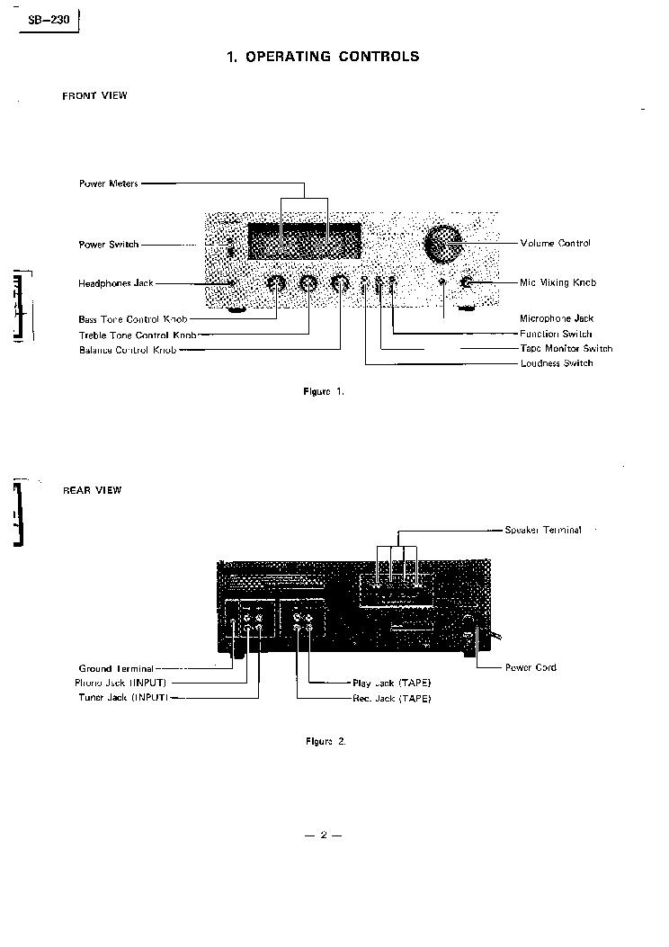 TOSHIBA SB-230 SM Service Manual download, schematics