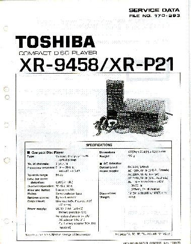 TOSHIBA MS-8258-CD HIFI MINI COMPONENT SYSTEM SM Service