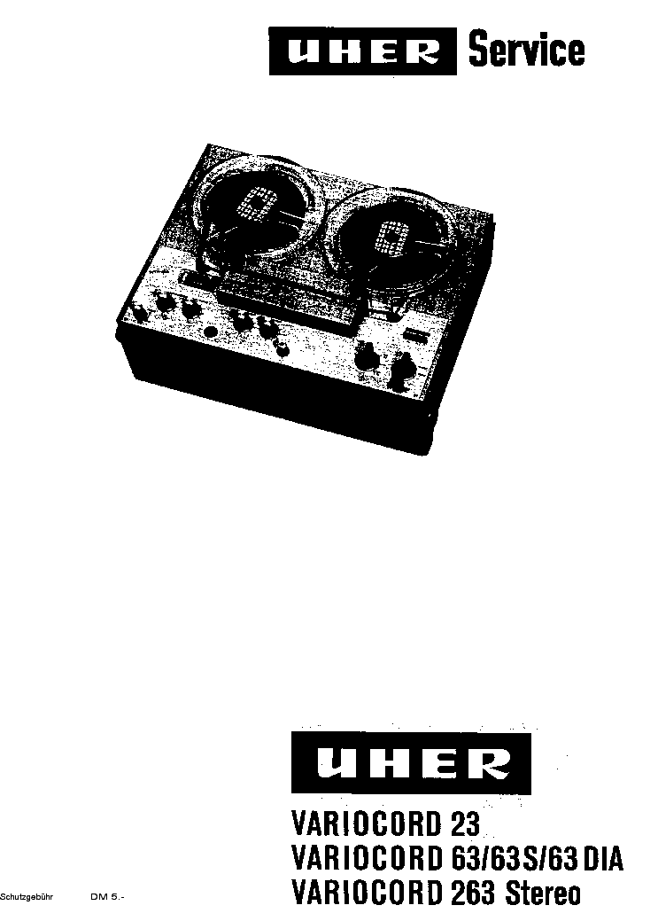 UHER VARIOCORD-23 63 263 SM Service Manual download