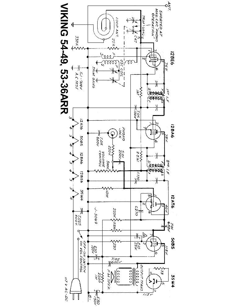 VIKING RM-710 RM-544 RM-651 RADIO SCH Service Manual