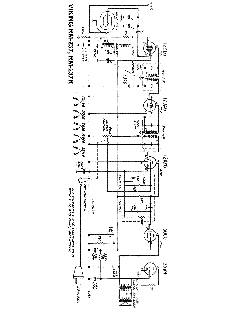 VIKING RM-237 R RADIO SCH Service Manual download