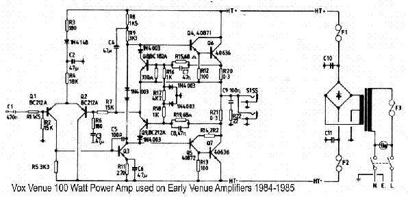 VOX CONQUEROR DEFIANT SUPREME PREAMP 1969 SCH Service