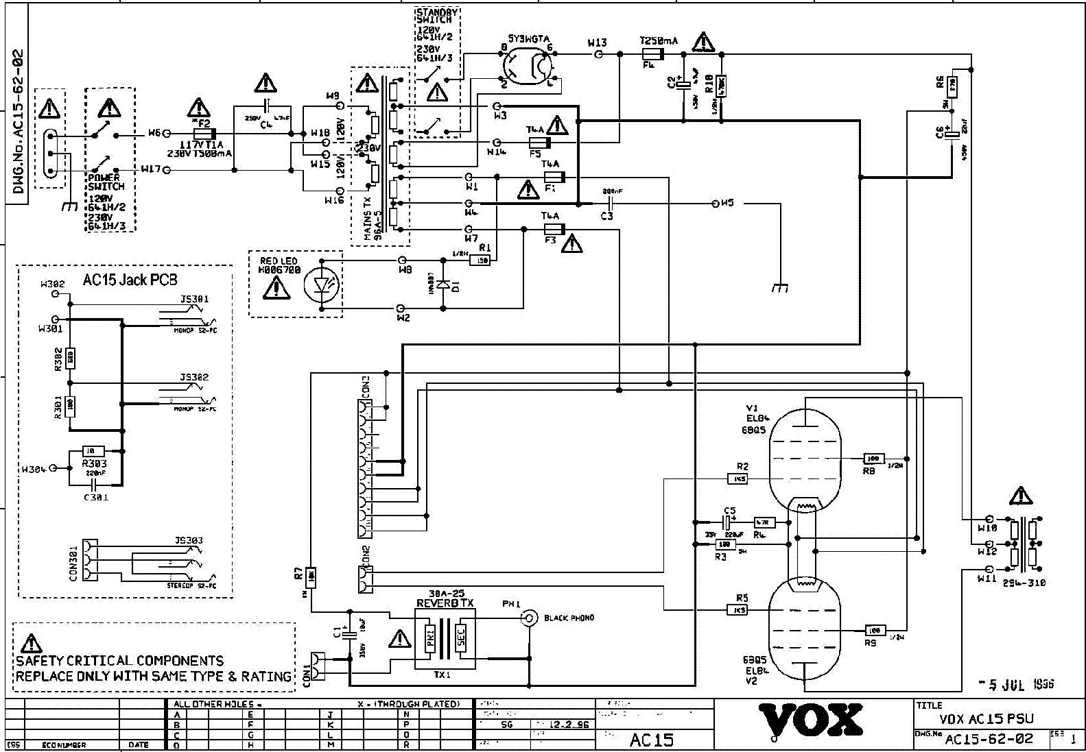 Vox Ac10 Sch Service Manual Free Download Schematics