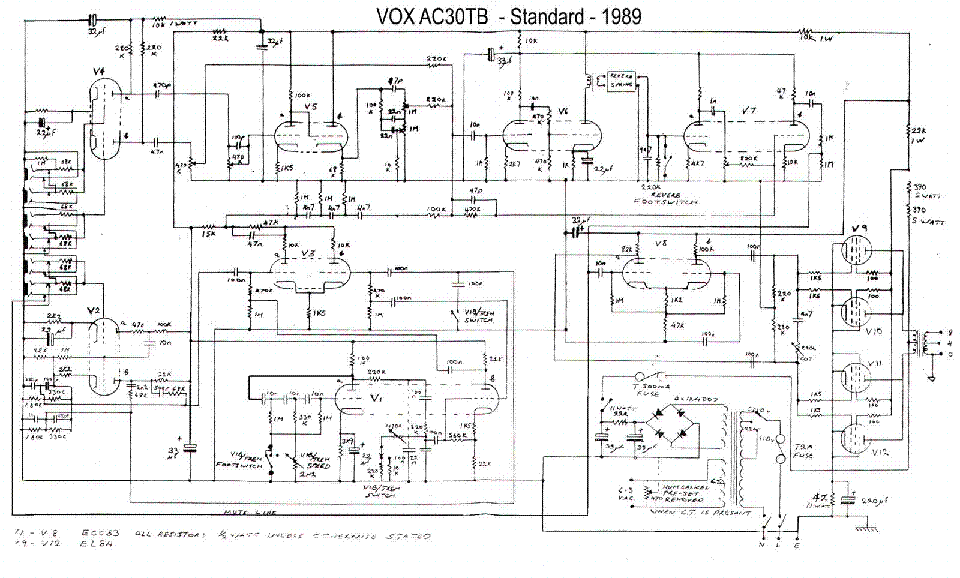 VOX ESCORT BASS 50 Service Manual download, schematics