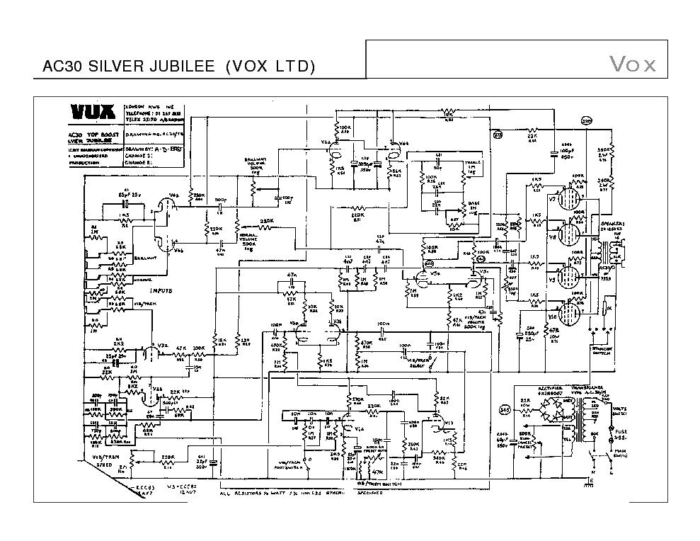 VOX AC30 SCH Service Manual download, schematics, eeprom