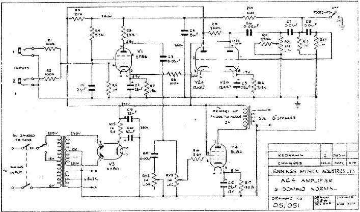 VOX AC4 Service Manual download, schematics, eeprom