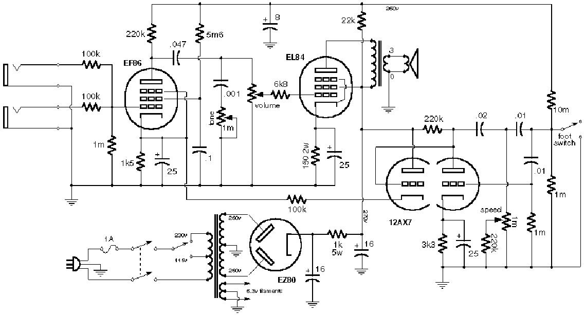 VOX AC15 MK II SCH Service Manual download, schematics