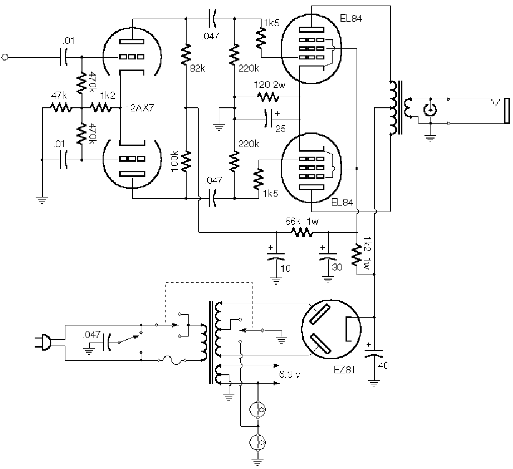 VOX AC30 SCH Service Manual free download, schematics