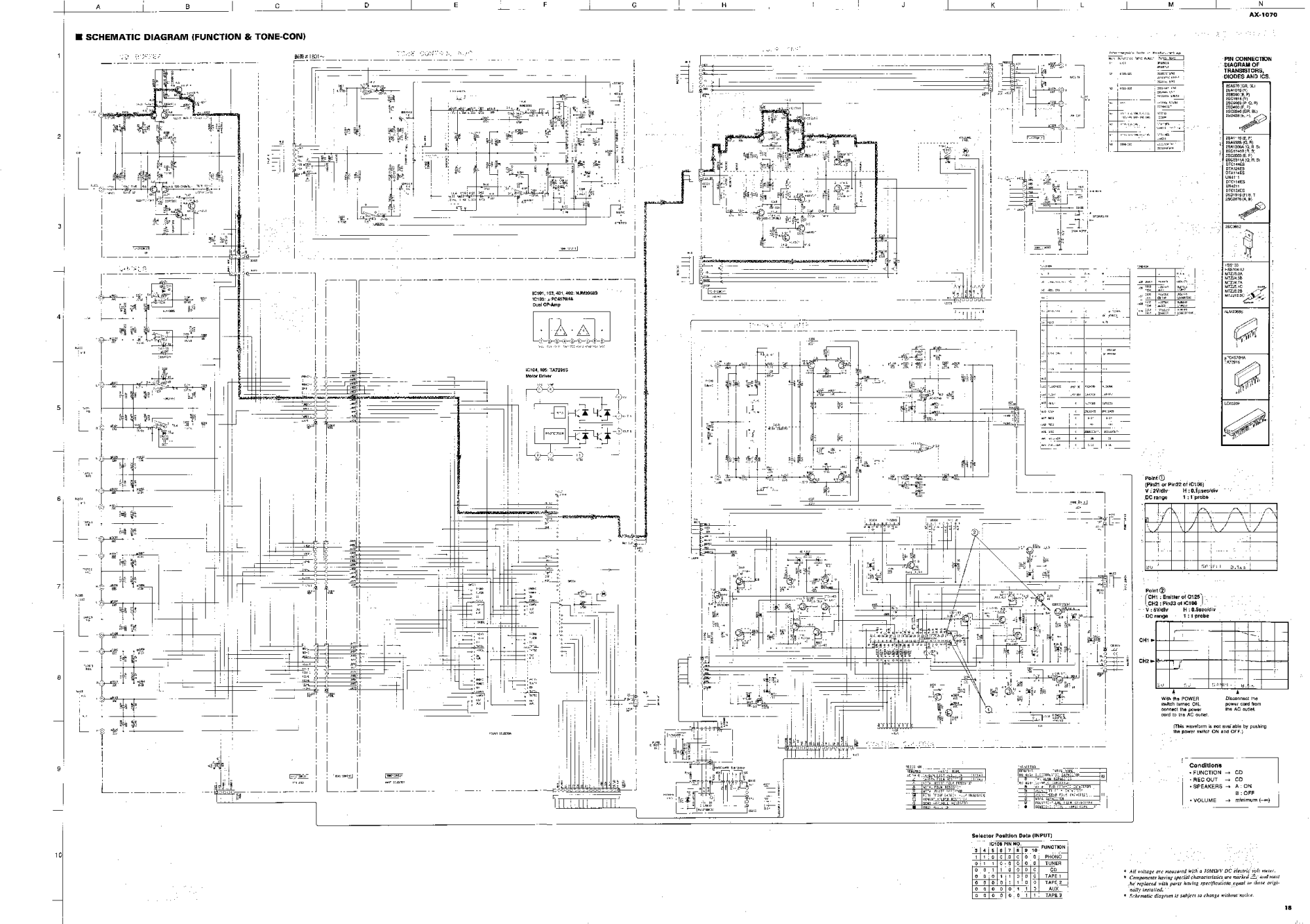 hight resolution of yamaha ax 1070 schematic service manual 1st page