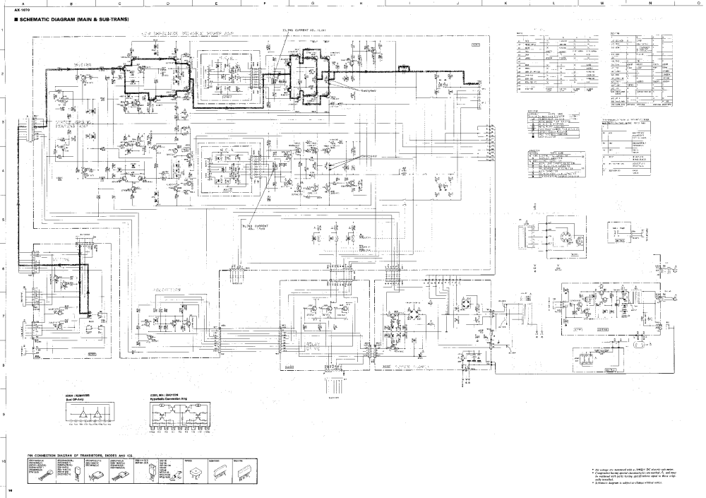 medium resolution of yamaha ax 1070 schematic service manual 2nd page