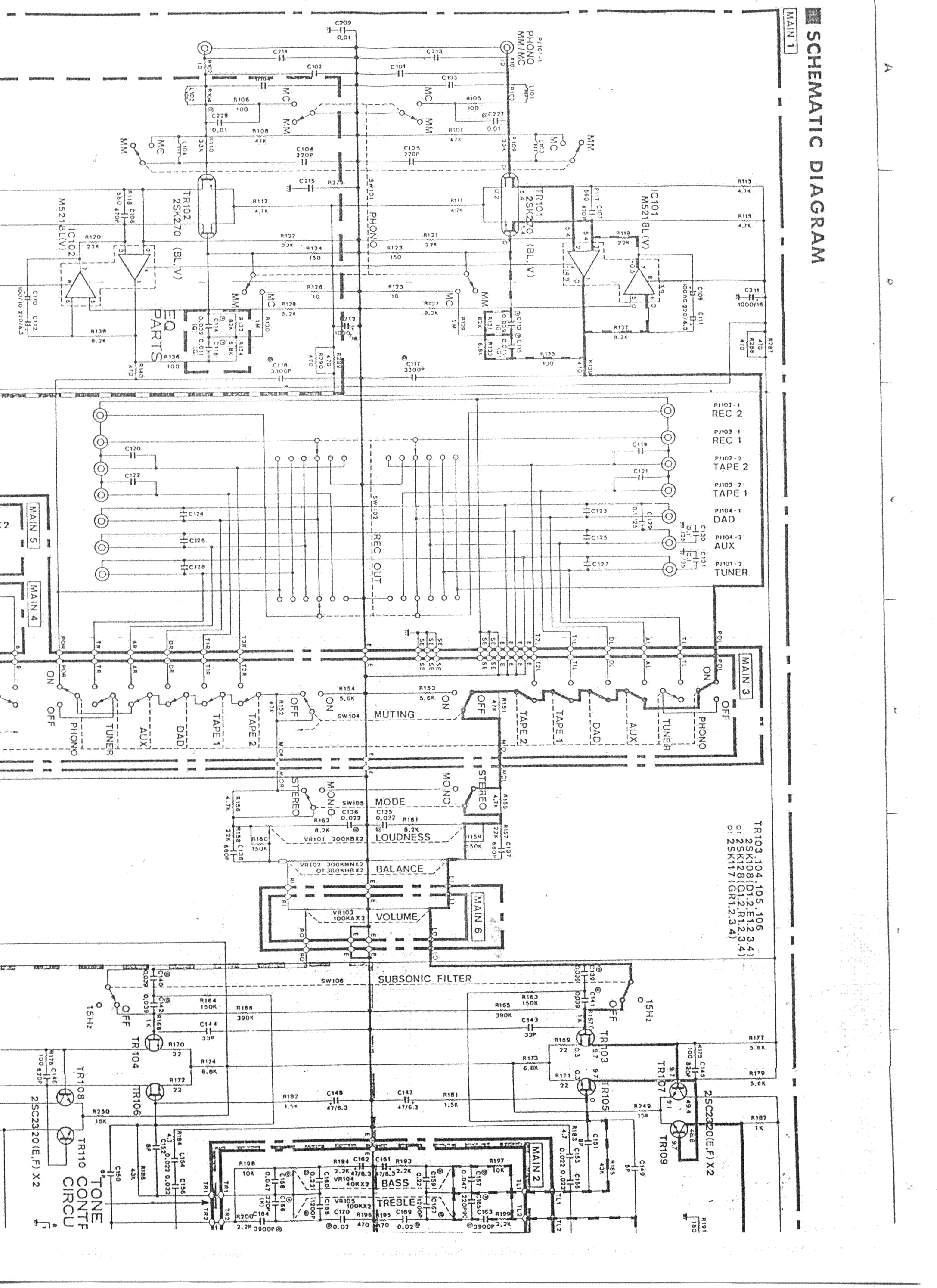 YAMAHA A-500 Service Manual download, schematics, eeprom
