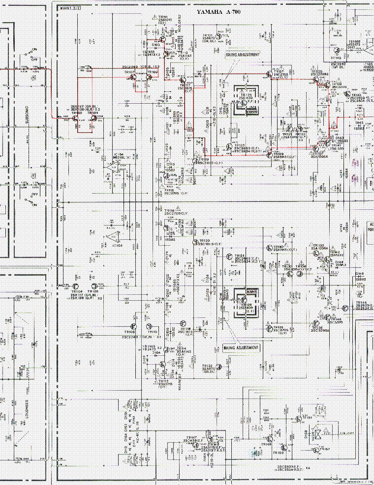 YAMAHA A-700 SCH Service Manual download, schematics
