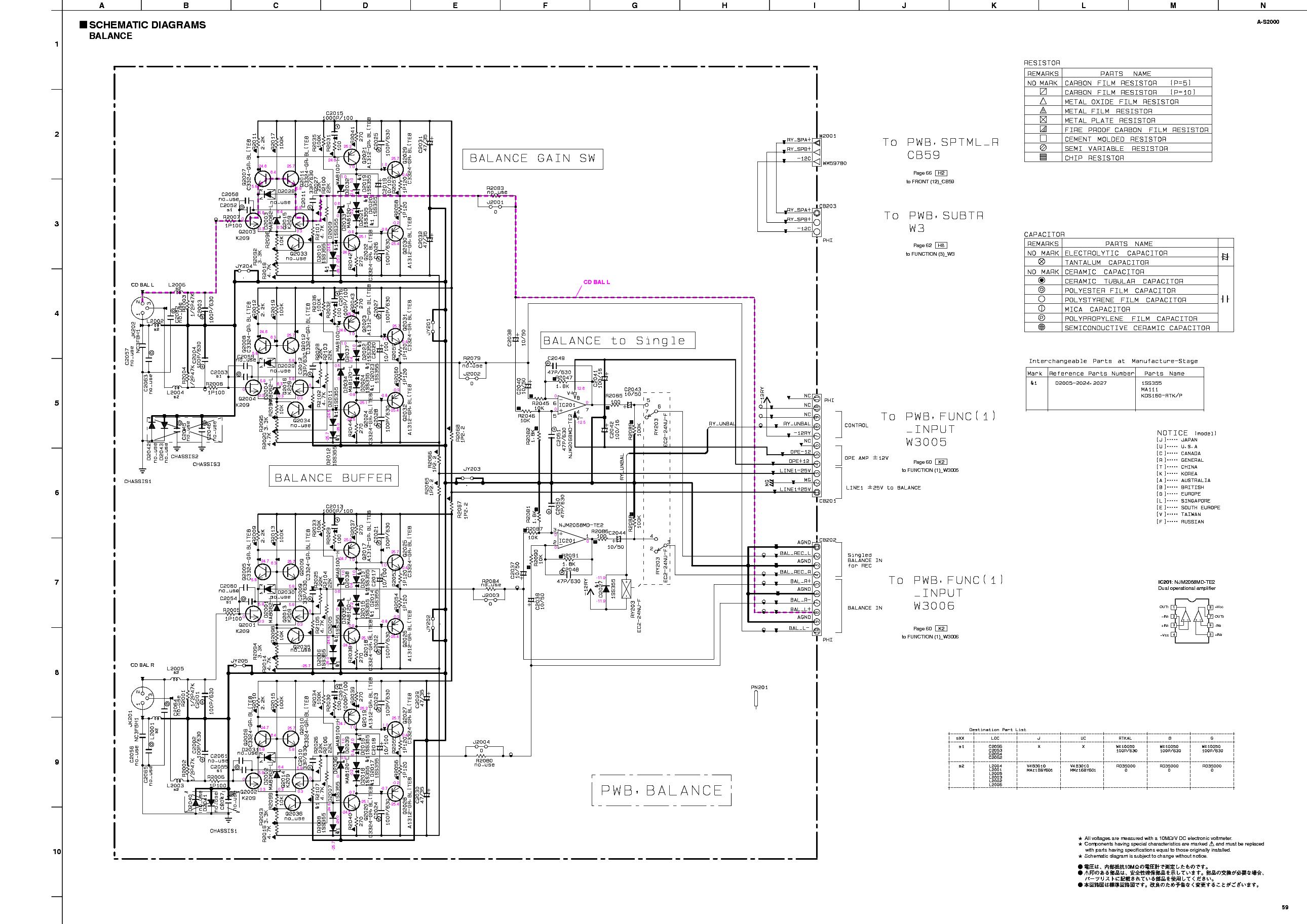 YAMAHA A-S2000 SCH Service Manual download, schematics