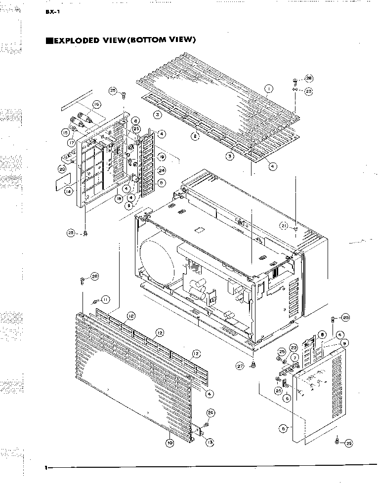YAMAHA BX-1 PARTS Service Manual download, schematics