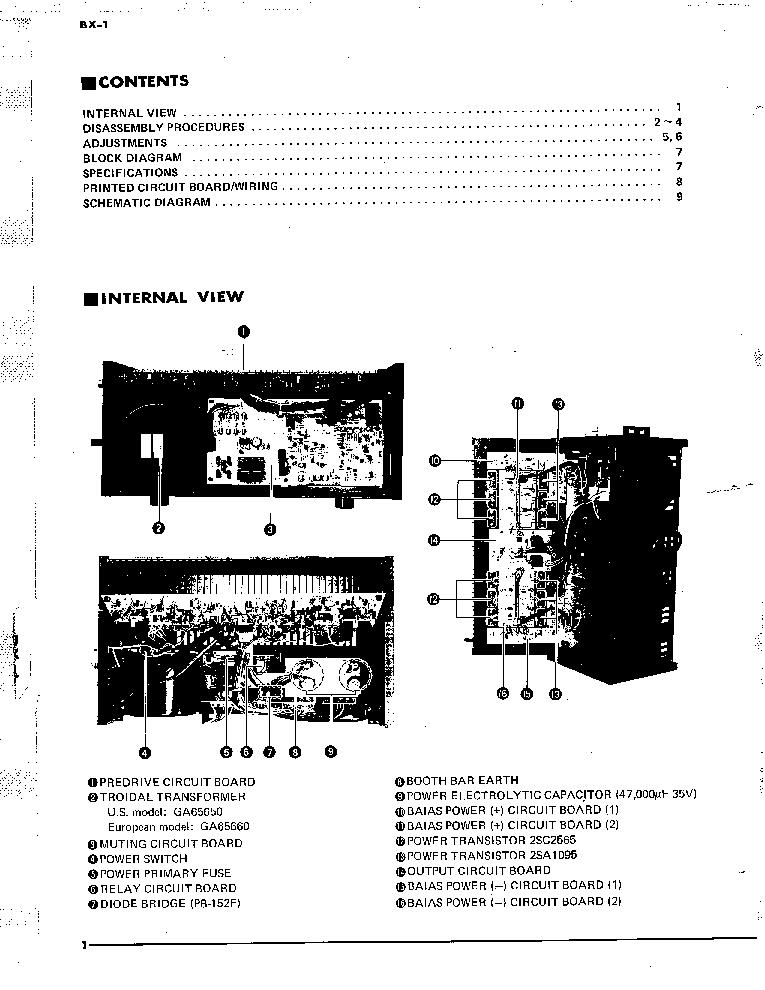 YAMAHA BX-1 SM Service Manual download, schematics, eeprom