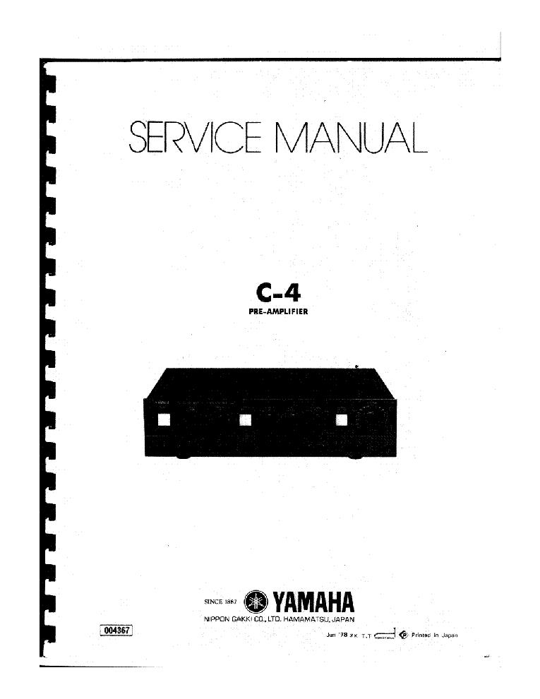 YAMAHA A-500 SCH Service Manual download, schematics