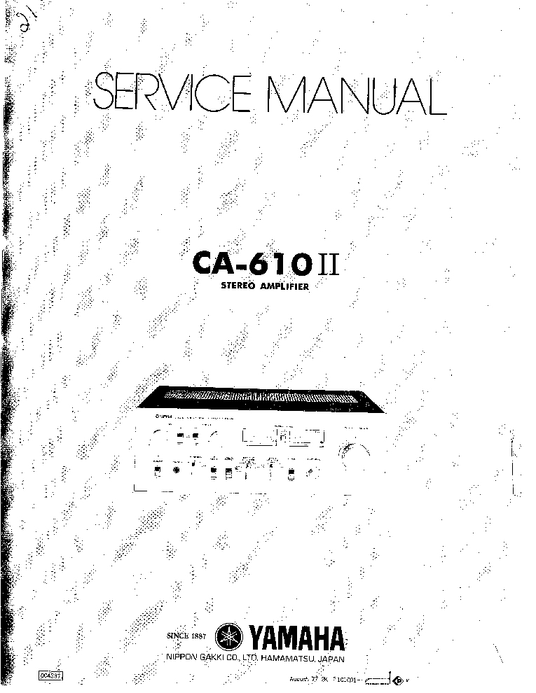 YAMAHA CA-610-2 Service Manual download, schematics