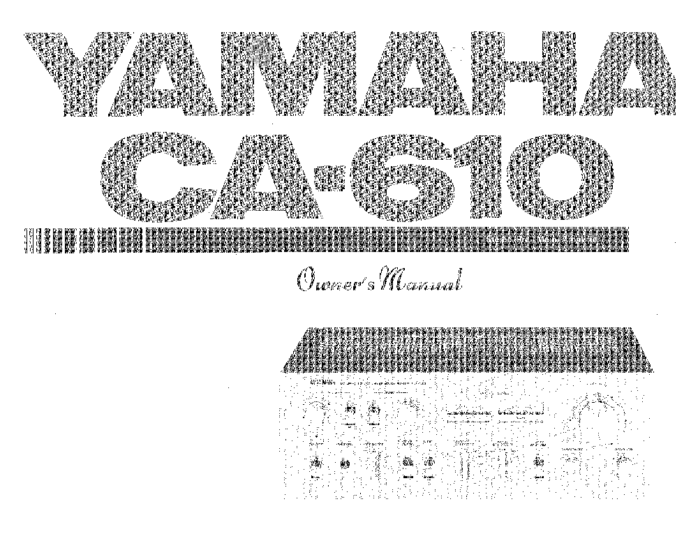 YAMAHA CA-610 Service Manual download, schematics, eeprom