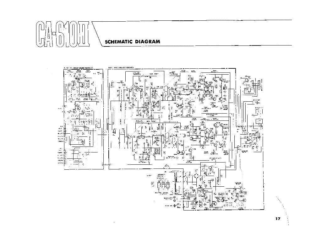 YAMAHA CA-610II SCH Service Manual download, schematics