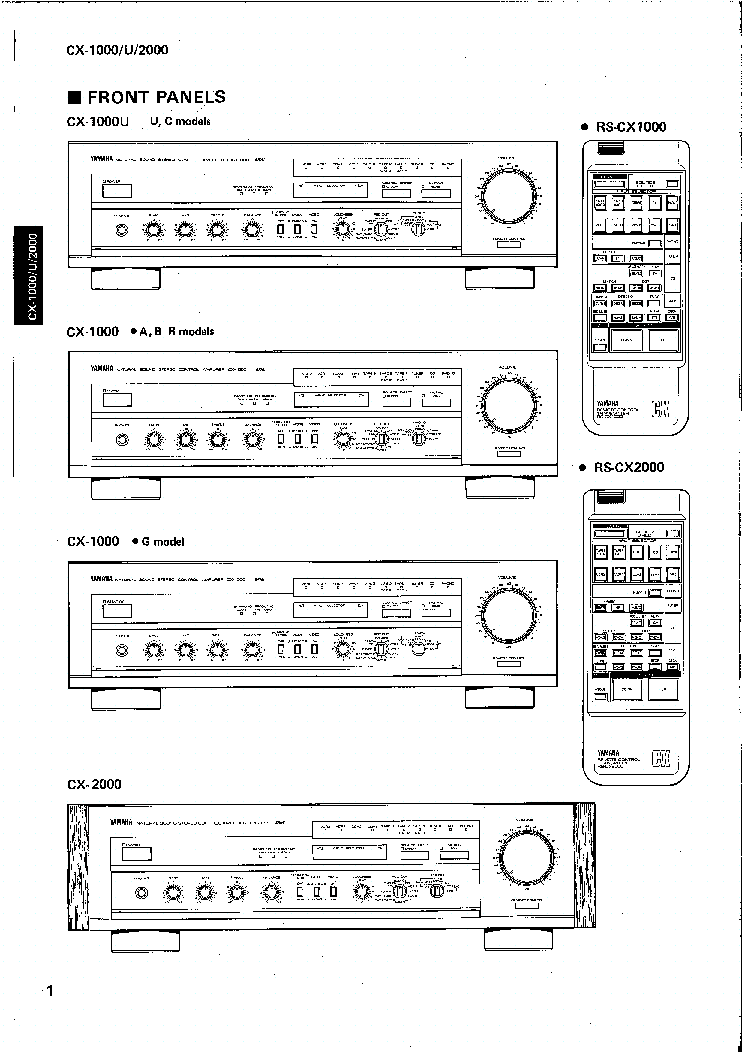 YAMAHA CX-1000 1000U 2000 SM Service Manual download