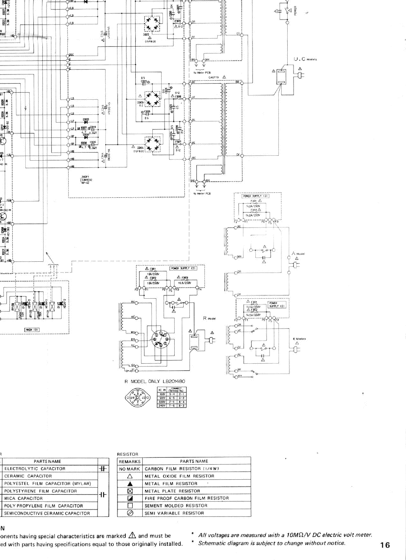 YAMAHA M-80 Service Manual download, schematics, eeprom