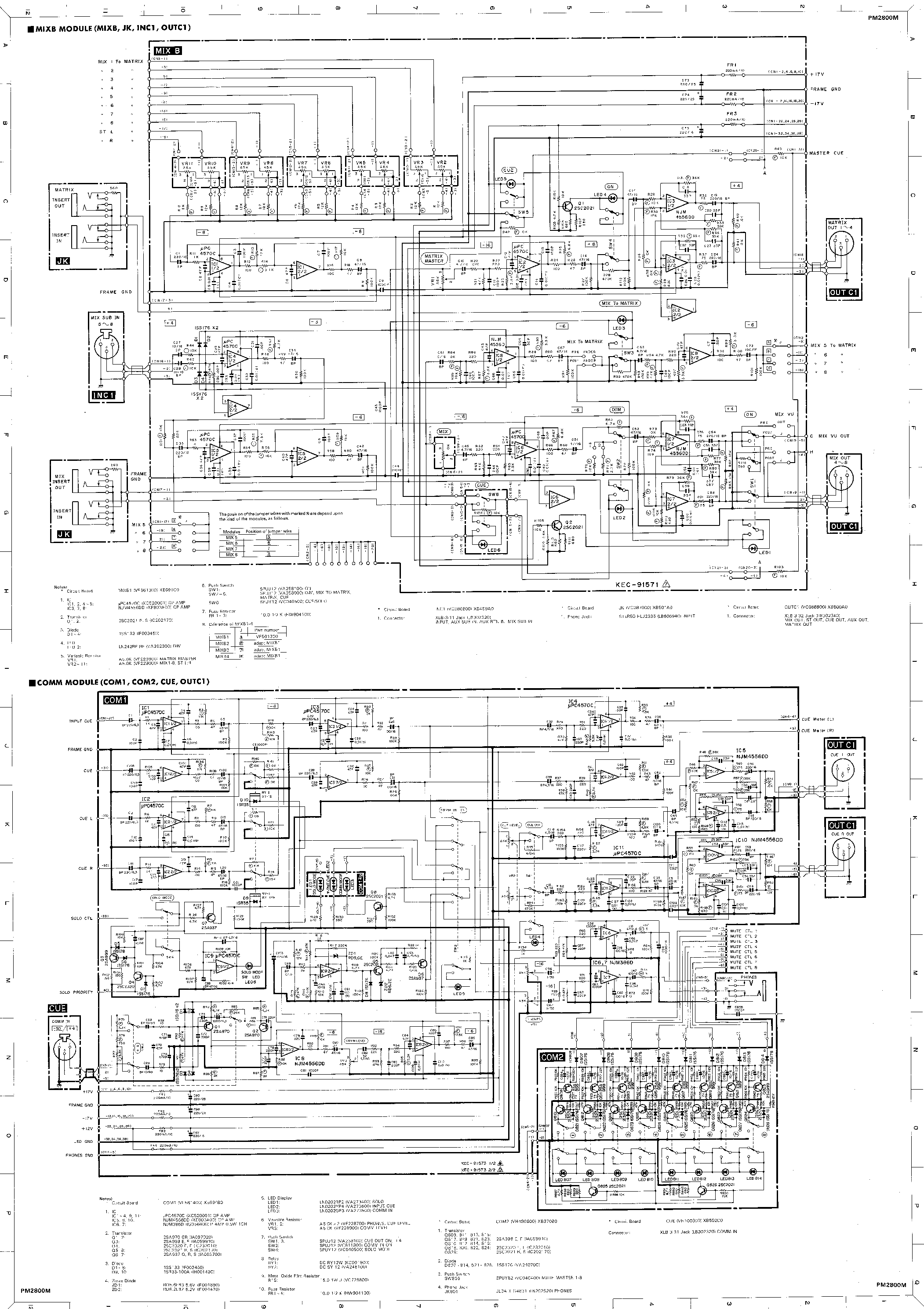 YAMAHA M2800M PW2800 SCHEMATIC Service Manual download