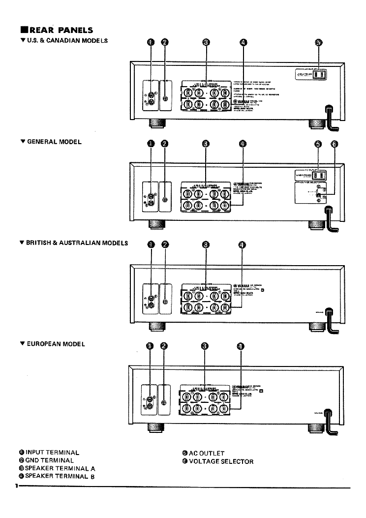 YAMAHA M70 Service Manual download, schematics, eeprom