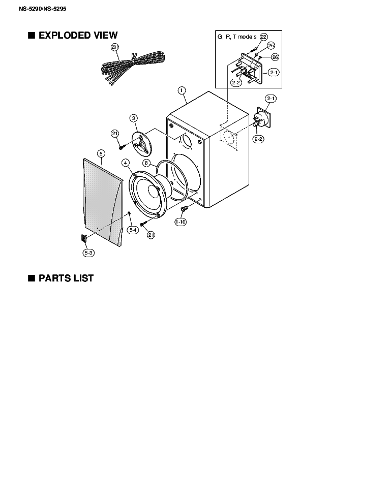 YAMAHA NS-5290 Service Manual download, schematics, eeprom