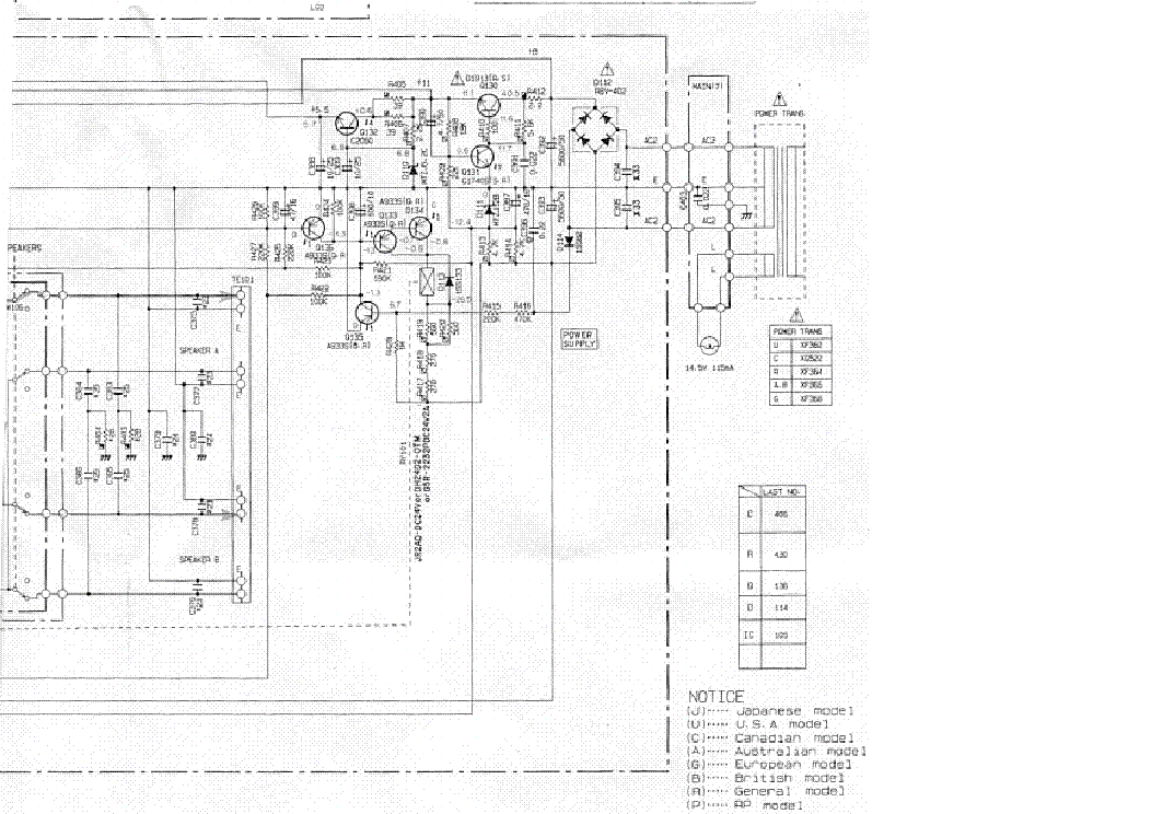 YAMAHA RX-797 SCH Service Manual free download, schematics