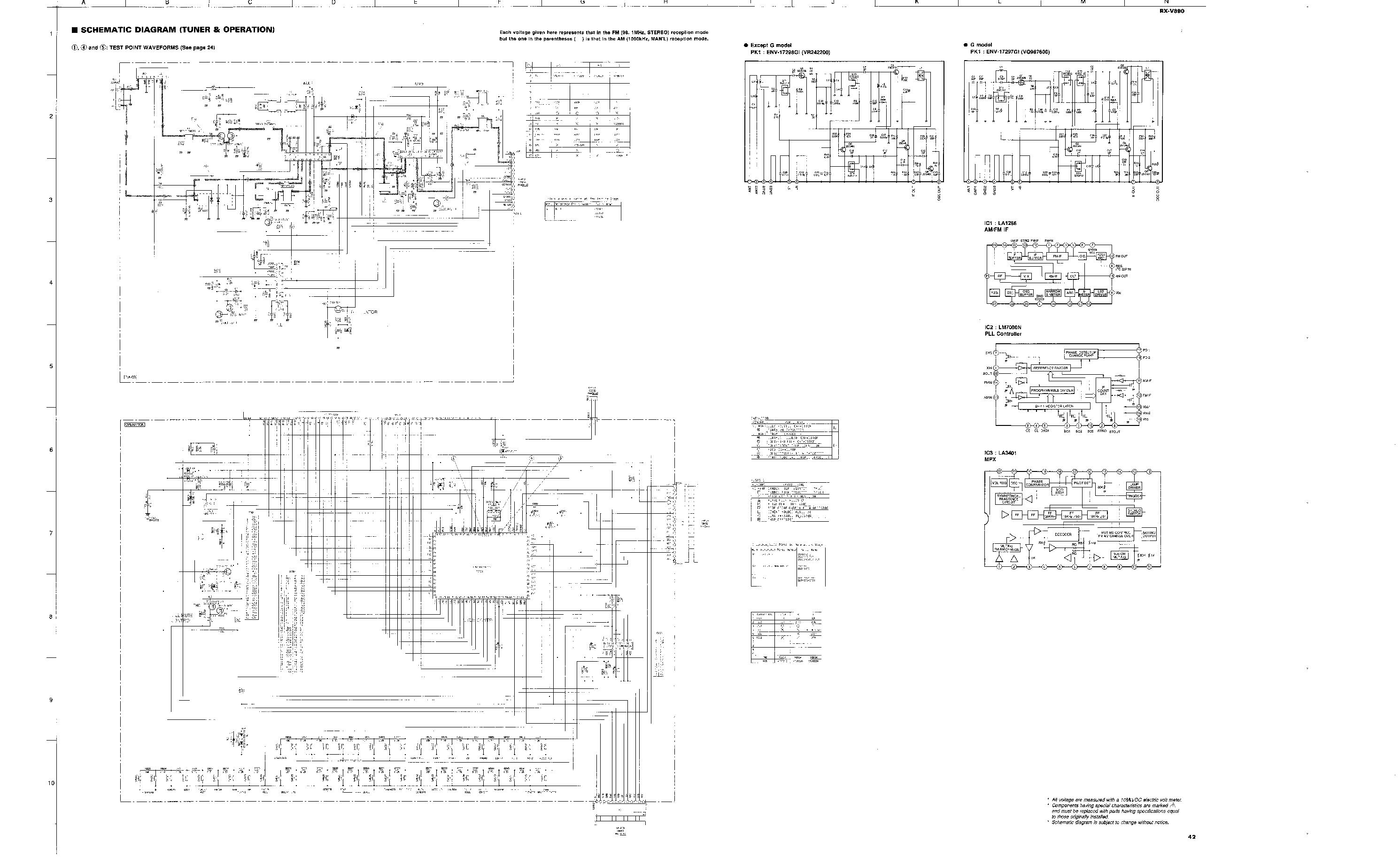 YAMAHA RX-V890 SCH Service Manual download, schematics