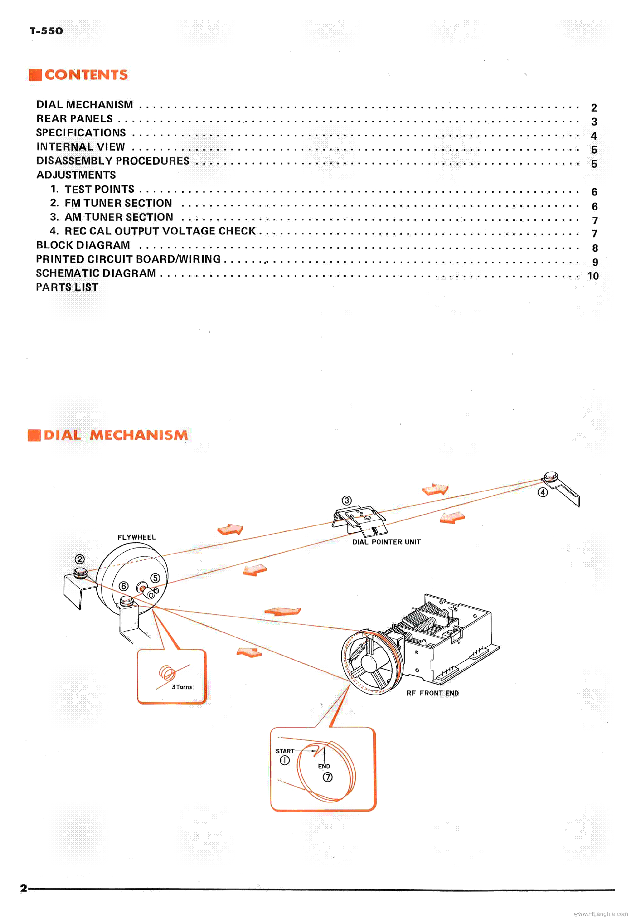 YAMAHA T-550 Service Manual download, schematics, eeprom