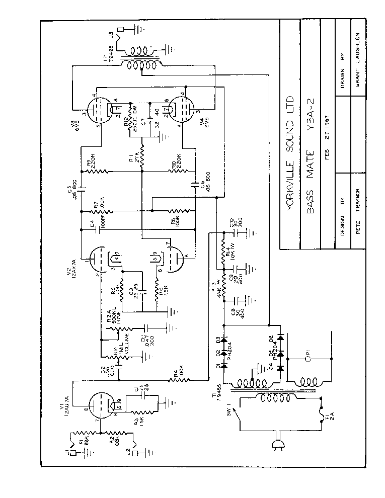 YORKVILLE AUDIOPRO-AP1200 SM Service Manual download