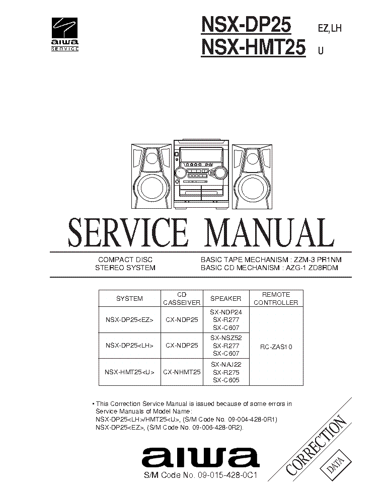 AIWA NSX-999 999-MK2 2200 TECHNICAL-INFO Service Manual