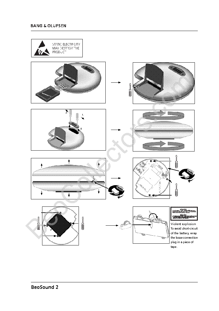 BANG-OLUFSEN BEOSOUND-2 EXPLODED Service Manual download