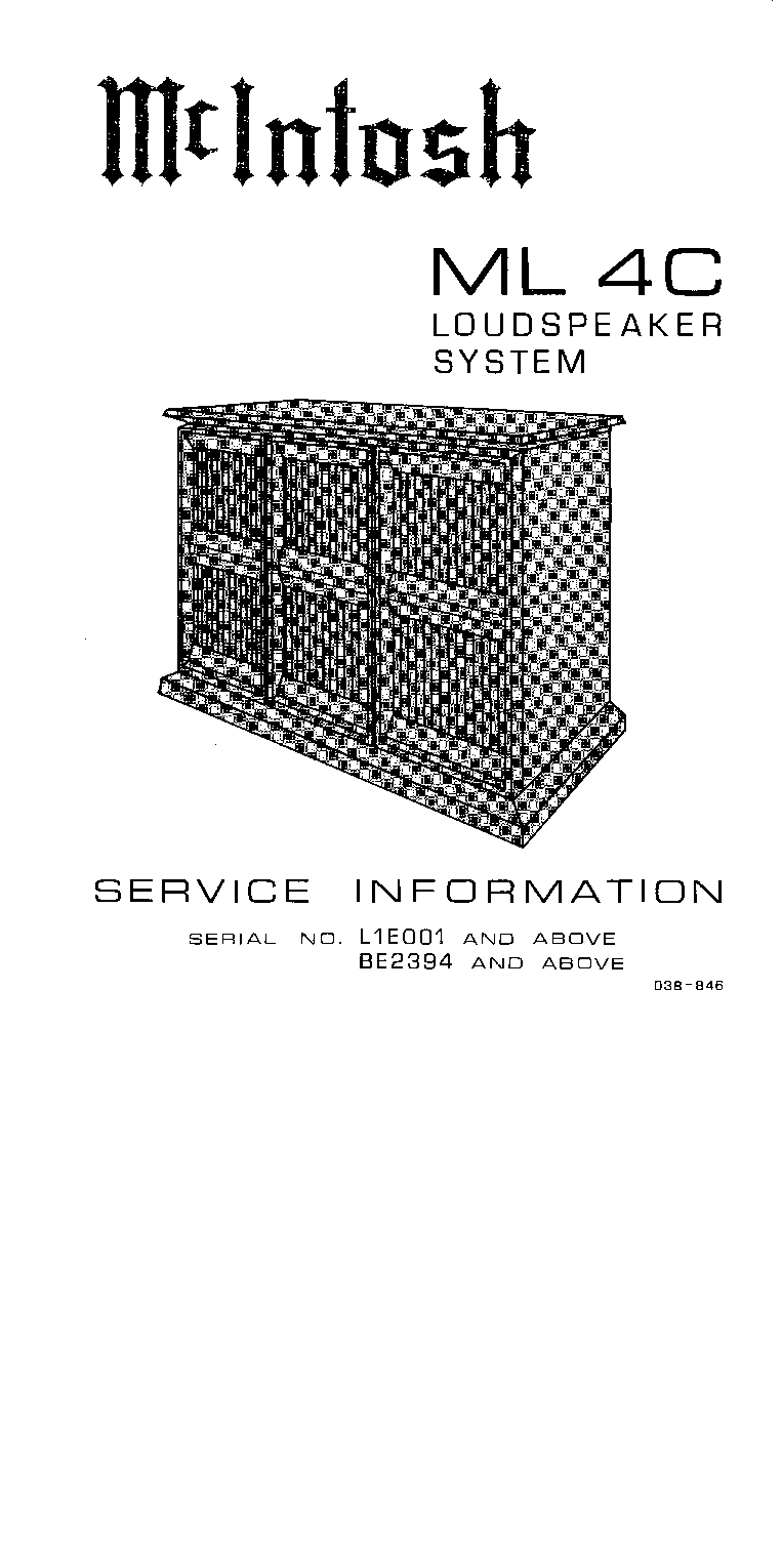 MCINTOSH SEMICONDUCTOR DATA Service Manual download
