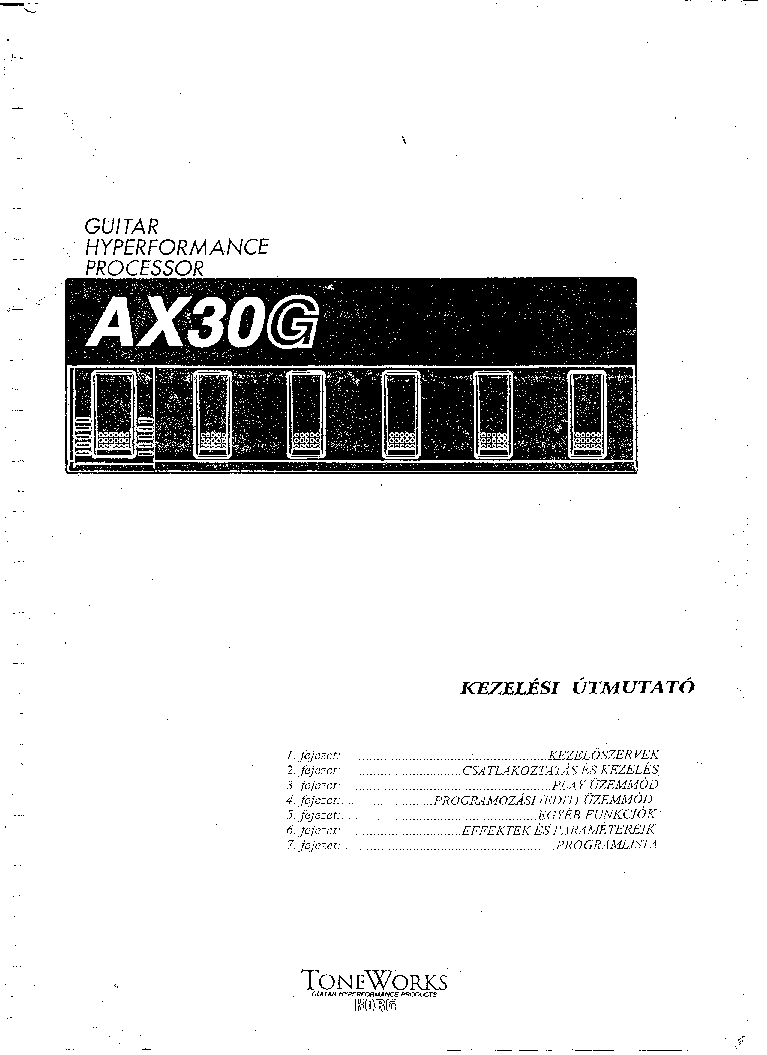 KORG AX30G USERMANUAL HUN Service Manual download