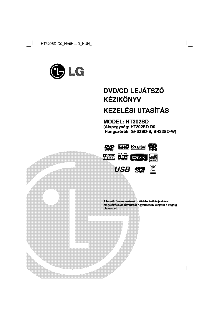 LG HB905PA SB95PA-F USERMANUAL Service Manual download