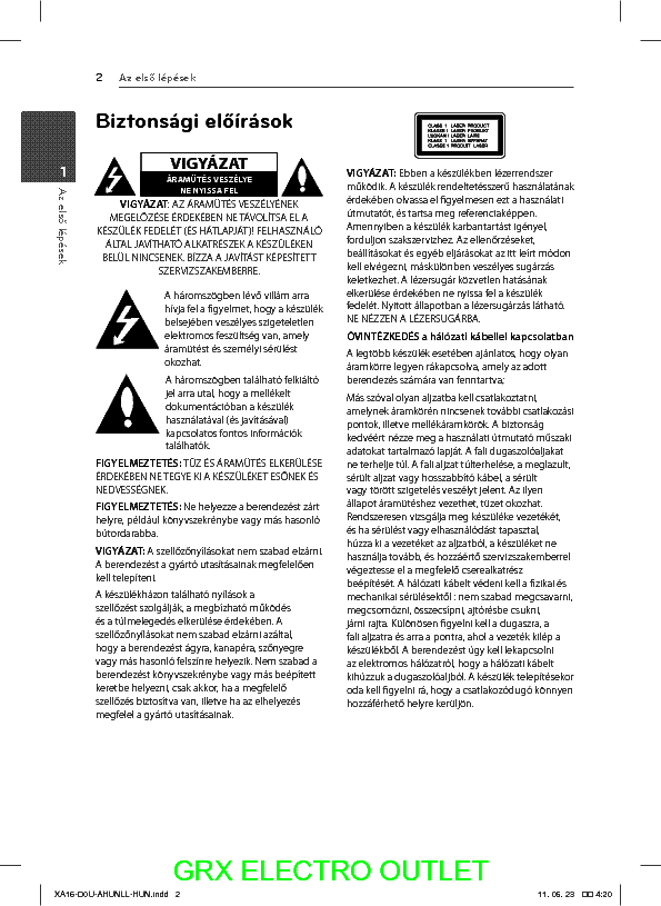 LG XA16 USERMANUAL Service Manual download, schematics