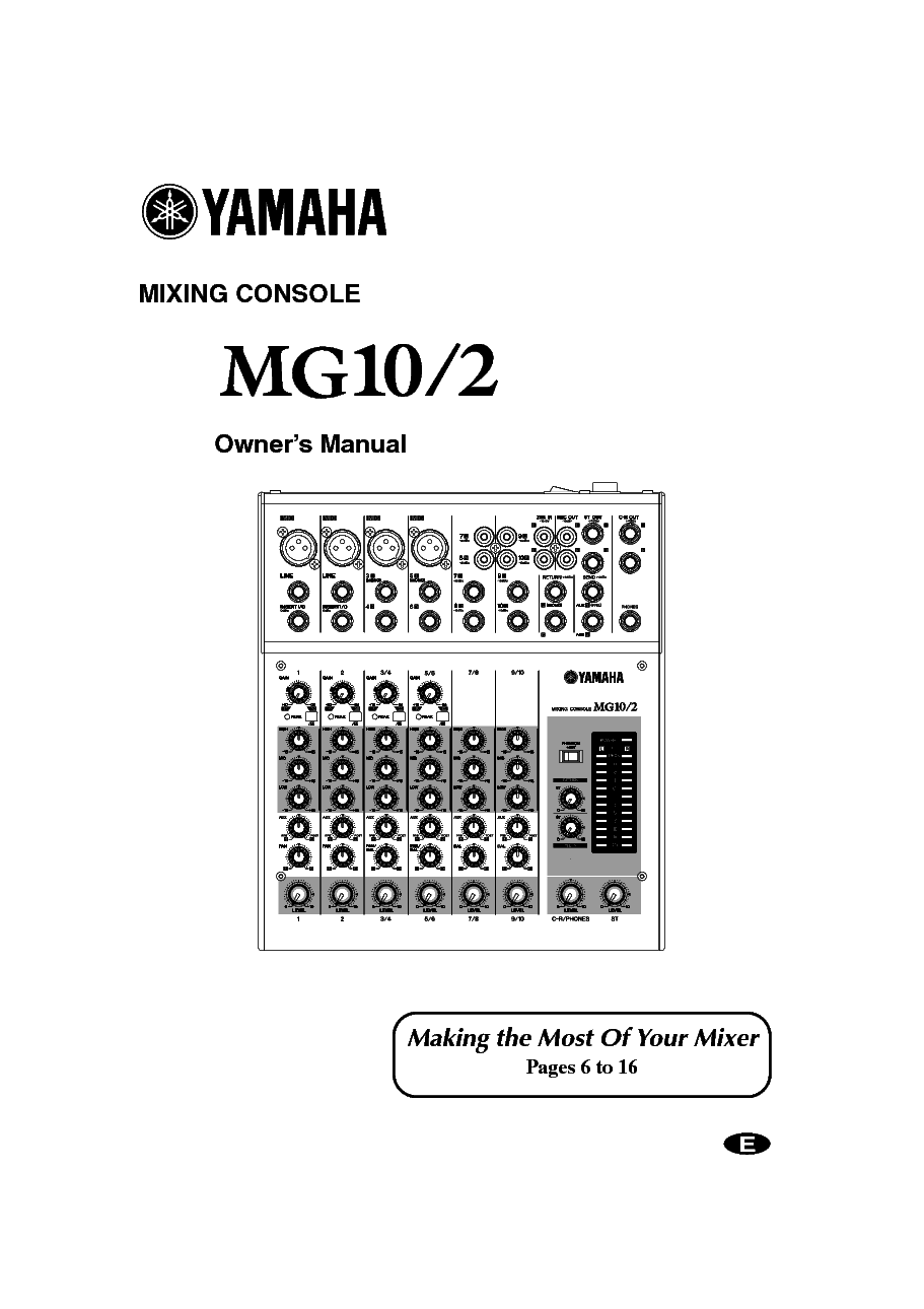 YAMAHA MX-55 USERM Service Manual download, schematics