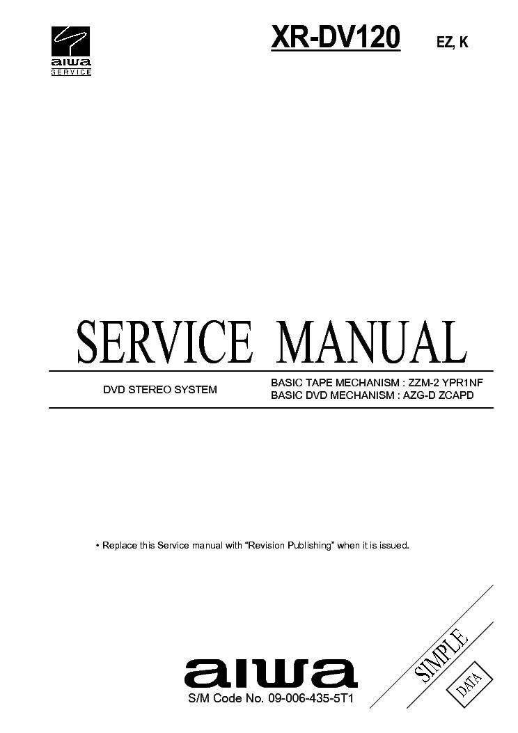 AIWA FX7500 SM Service Manual download, schematics, eeprom