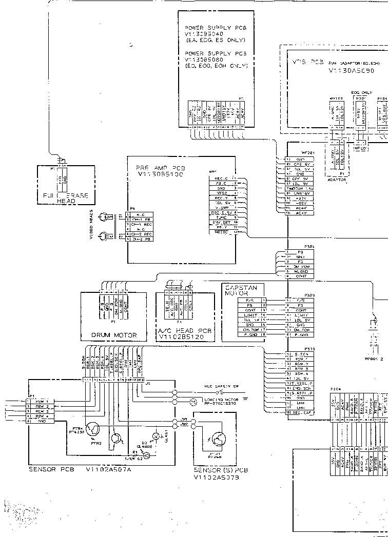 AKAI VS-F180 190 200 220 222 230 240 SCH Service Manual