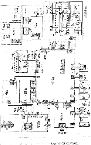 AKAI VS23 Service Manual download, schematics, eeprom