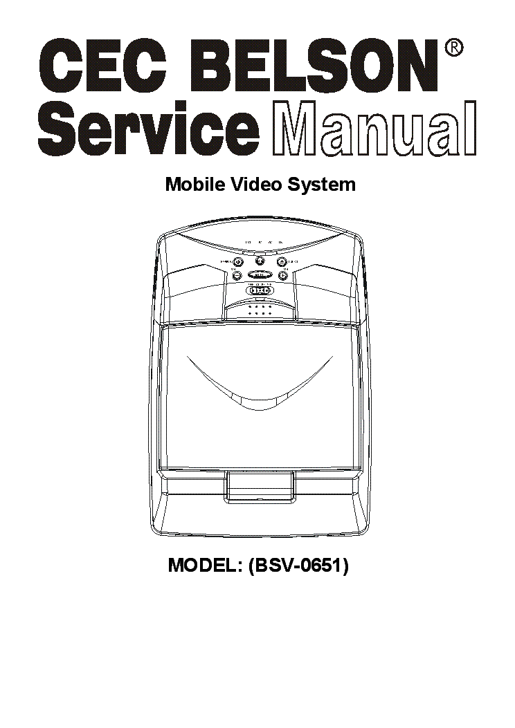 BELSON BSV-0651 VIDEO-SYSTEM FULL Service Manual download