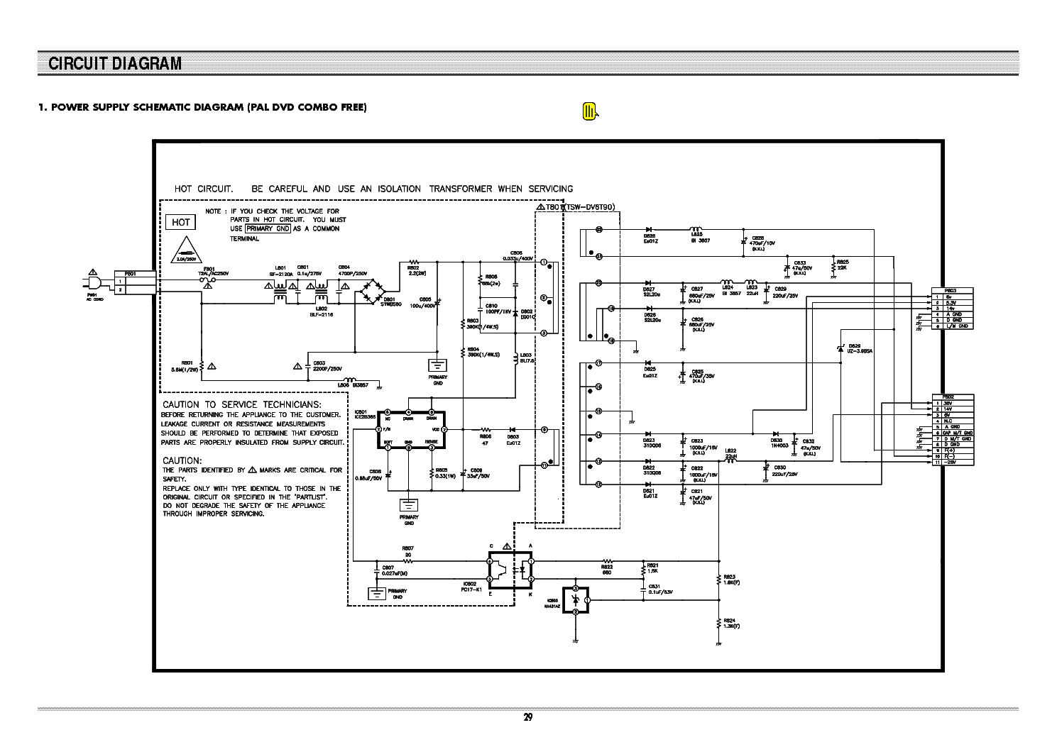 DAEWOO SD-8100 SCH Service Manual download, schematics, eeprom, repair info for electronics experts