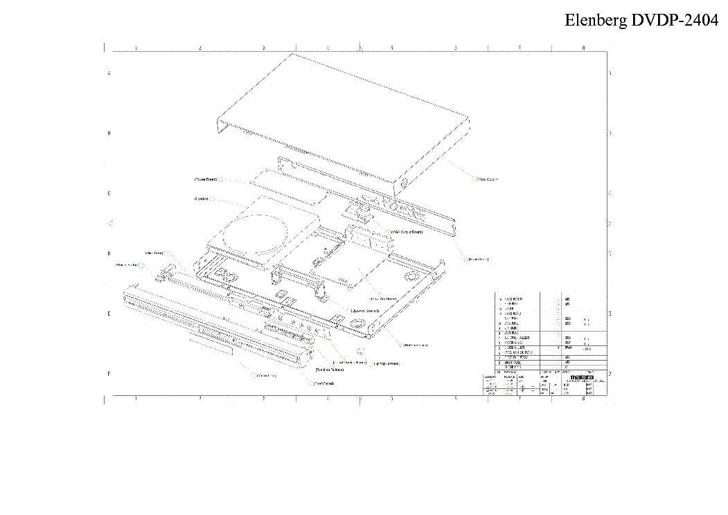 ELENBERG DVDP-2404 SM Service Manual download, schematics