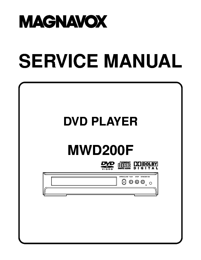 MAGNAVOX DP170MS8 Service Manual download, schematics
