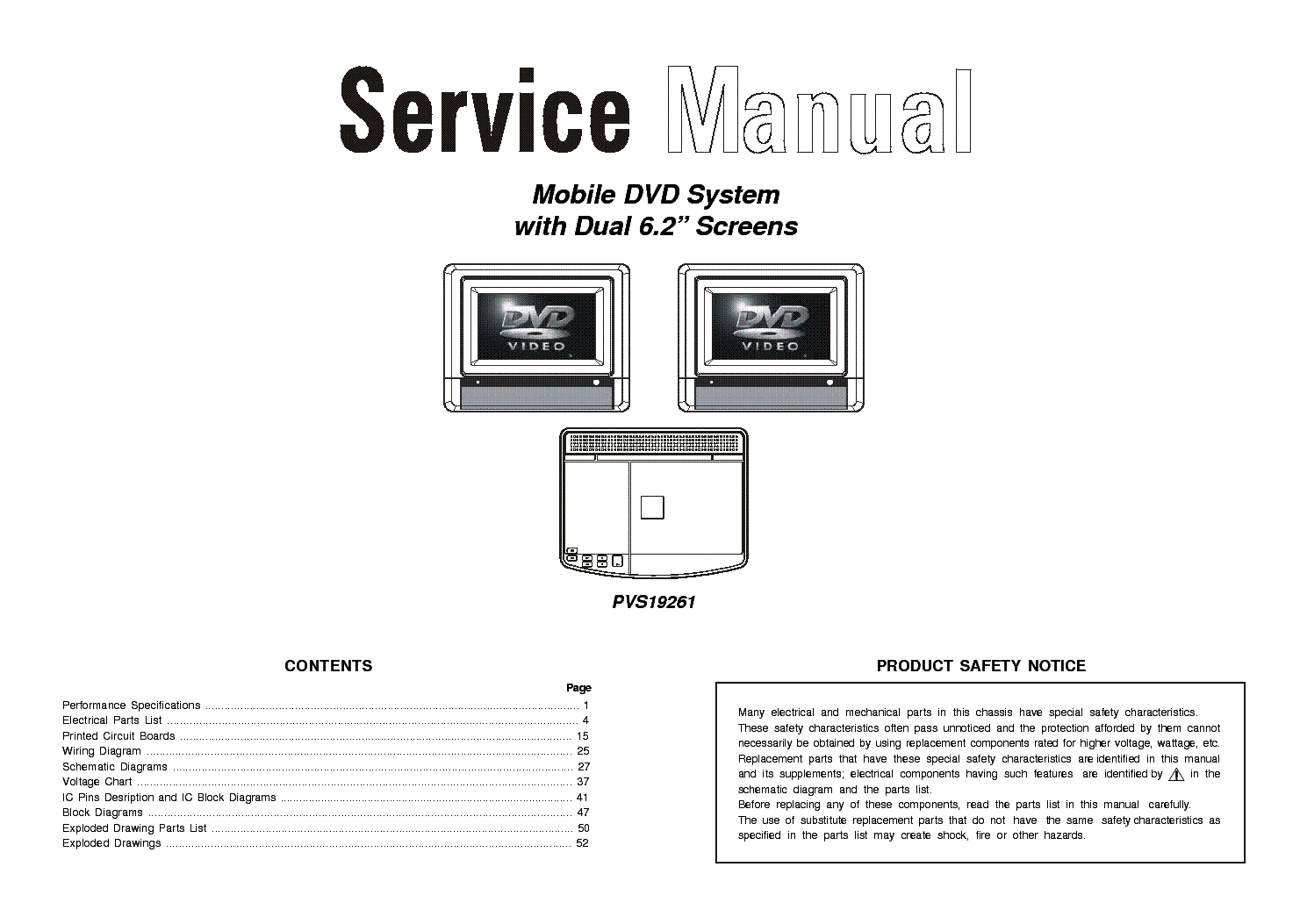 VENTURER PVS19261 1 Service Manual download, schematics