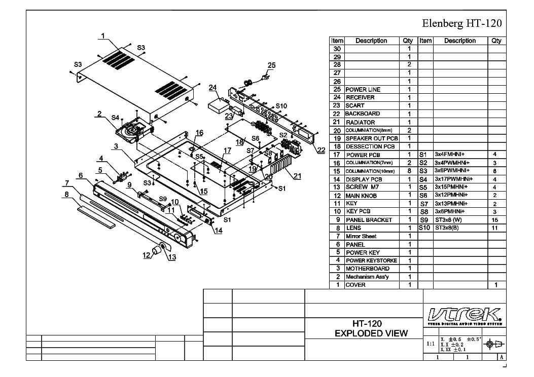 ELENBERG DVDR-610 SCH Service Manual download, schematics