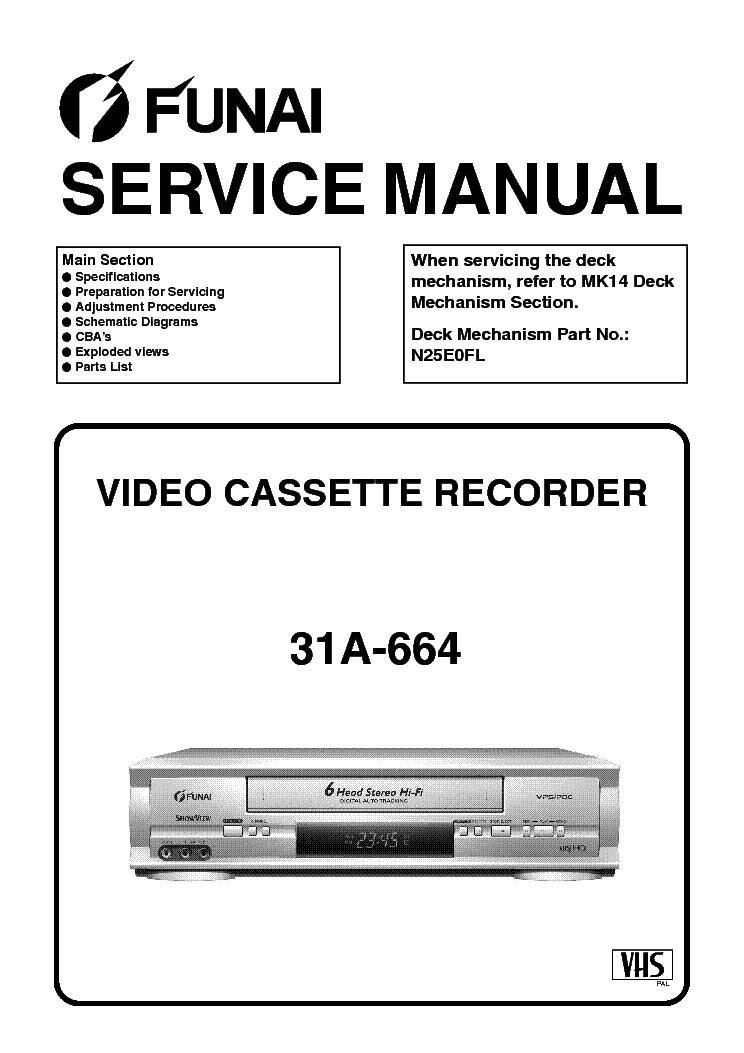 FUNAI 23A-650-654-660-664 SERVICE MANUAL Service Manual