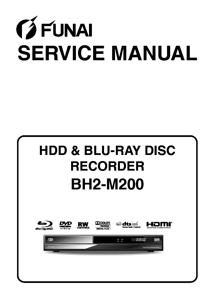 FUNAI BH2-M200 E4V21ED BLU-RAY Service Manual download